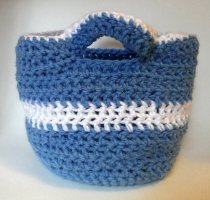 Blue Purse with Handles
