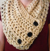 Crocheted Button Cowl
