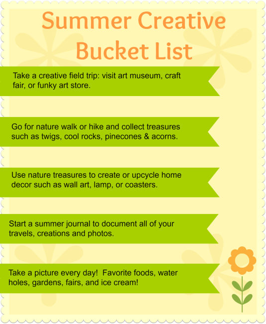 Summer Creative Bucket List